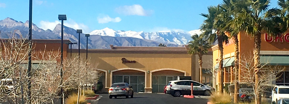 Parking Lot With Mountain View