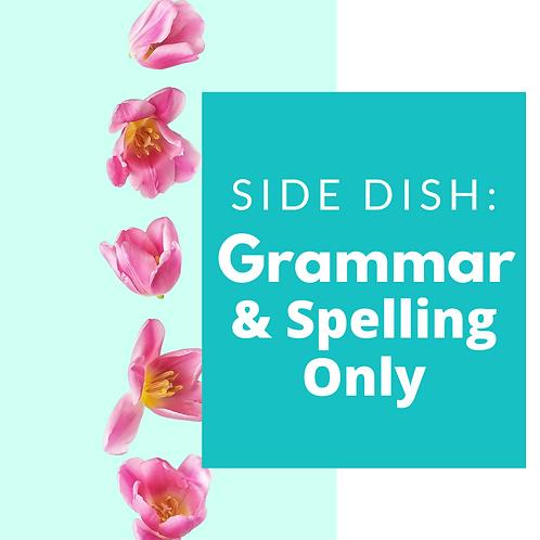 NICEIFY Side Dish: Grammar & Spelling Only