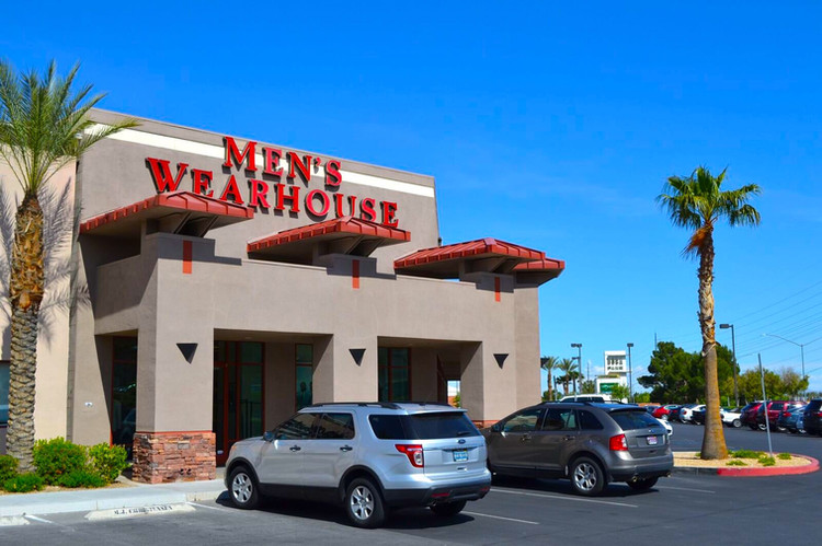 Men's Warehouse and Parking Lot