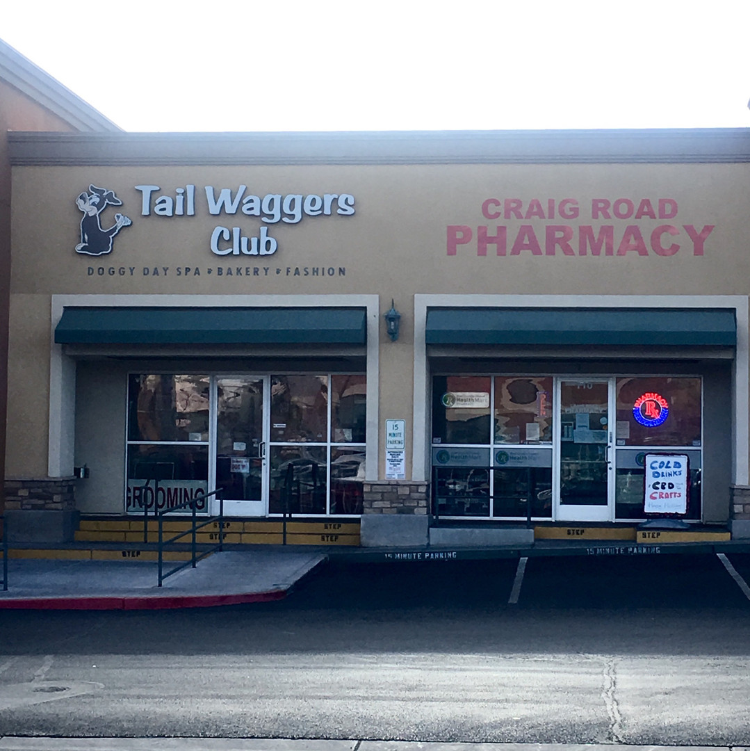 Tail Waggers Club and Craig Road Pharmacy at KlossCo Properties