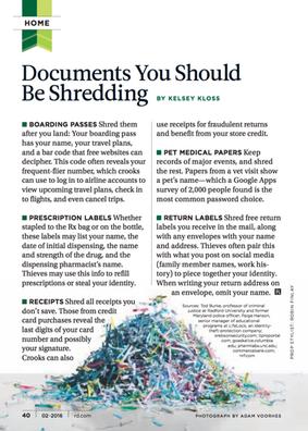 Documents You Should Be Shredding Journa