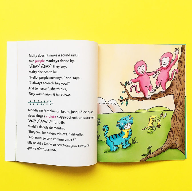 Malty the Blue Tiger Spanish Books