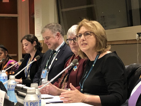 Former President Of Ireland Mary McAleese Praises Sophia At United Nations Event