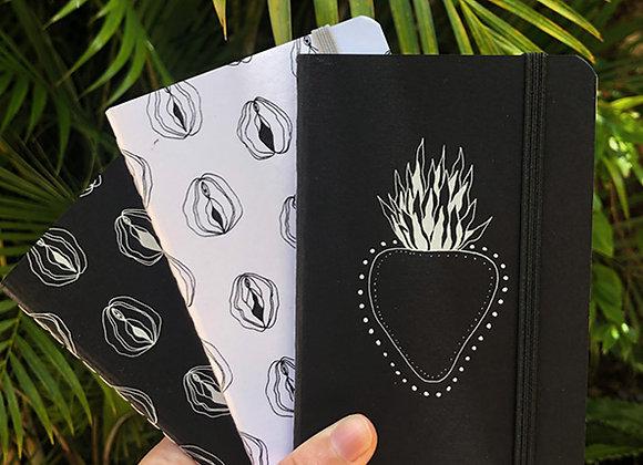 Sketchbook bolso coração Natureza Íntima