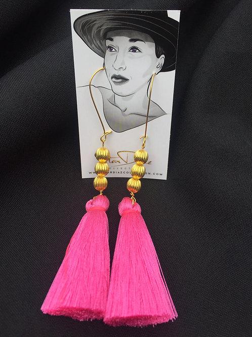Powder Pink Tassel Earrings