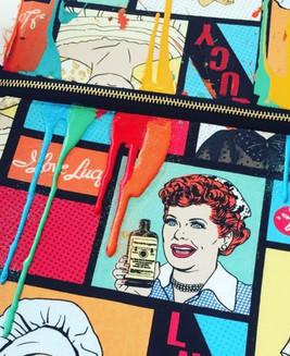 I Love Lucy fabric print