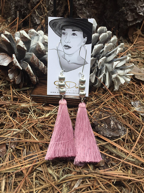 Dirty Rose Tassel Earrings