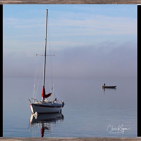 Sailboat & the Fisherman 24 x 24