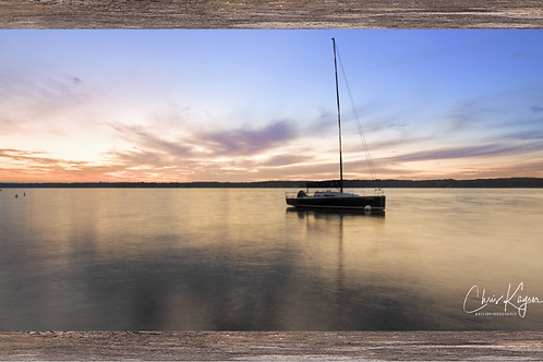 Sunset Sailboat 20 x 10