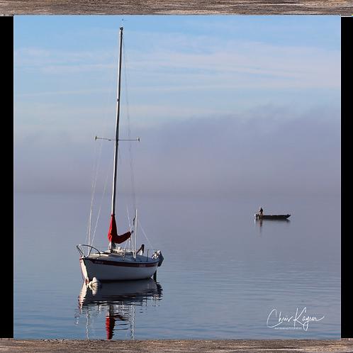 Sailboat & the Fisherman  16 x16