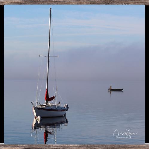 Sailboat & the Fisherman  20 x 20