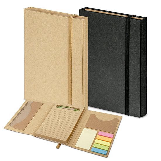 Kit para escritório A6, 1 régua, 1 esferográfica, 6 blocos post-it