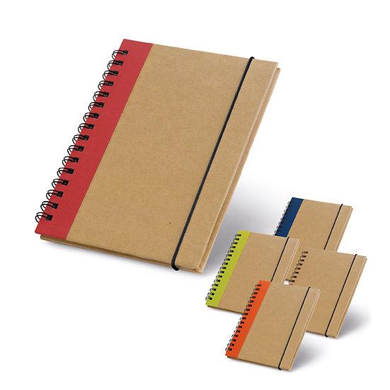 Caderno A6 reciclado não pautado
