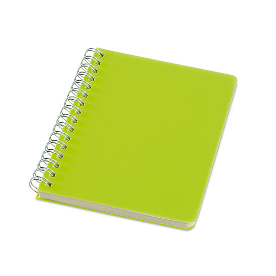 Caderno A6 com folhas pautadas