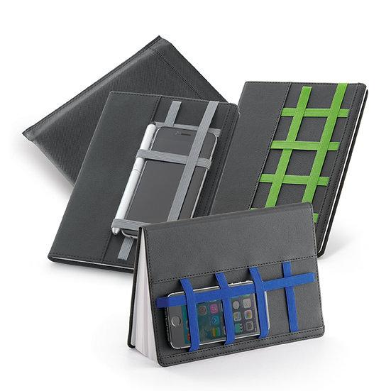 Caderno capa dura A5 couro sintético