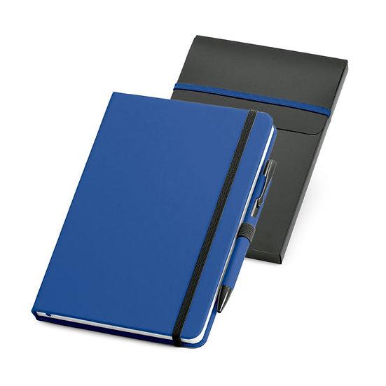 Kit de caderno A5 e esferográfica