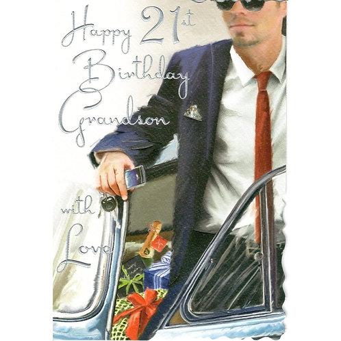 GRANDSON 21st Birthday Card