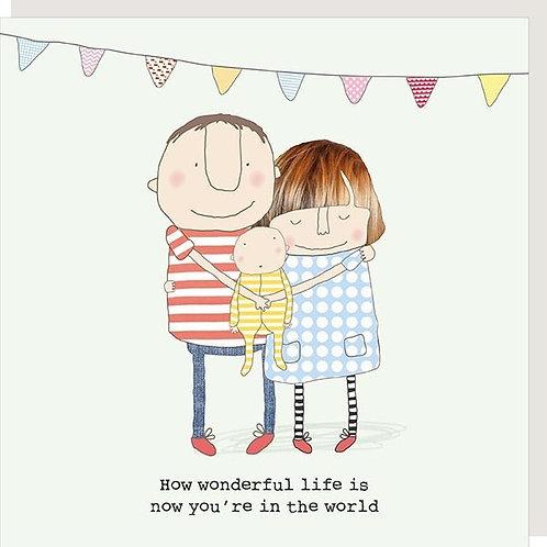 Wonderful Life New Baby Card