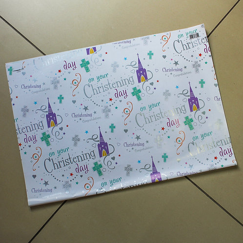 Christening Wrapping Paper