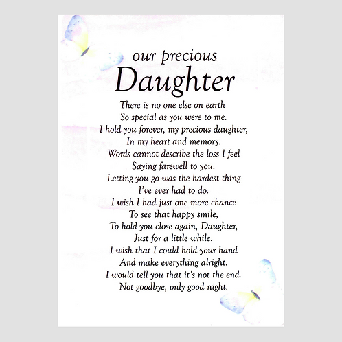 Daughter Grave Card