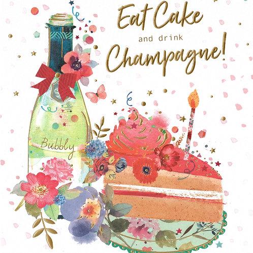 Fizz & Cake Birthday Card