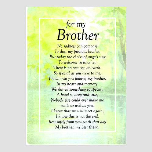 Brother Grave Card