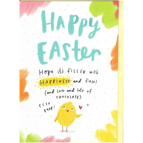 Watercolour Chick Easter Card