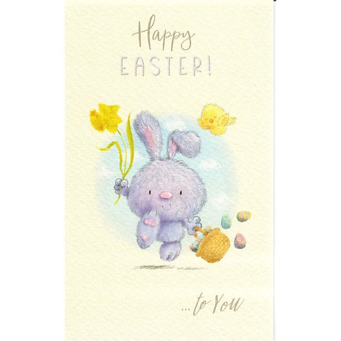 Bunny with Daffodils Pack of 6 Small Easter Cards