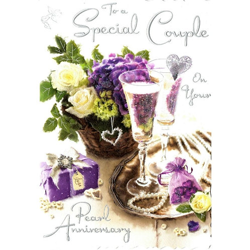Special Couple Pearl Anniversary Card