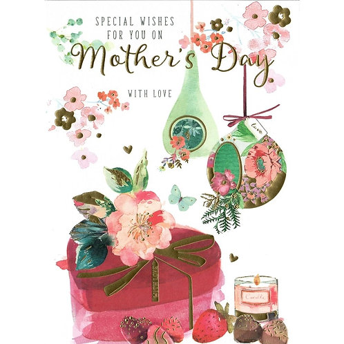 Strawberries & Chocolates Mother's Day Card