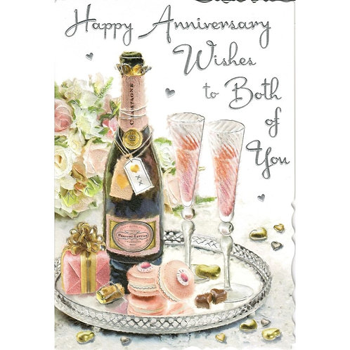 Rose Both of You Anniversary Card