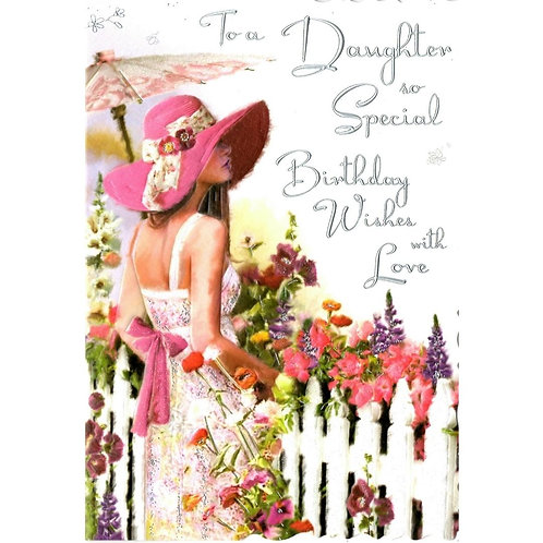 Daughter Fence Birthday Card