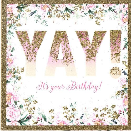 YAY! Birthday Card