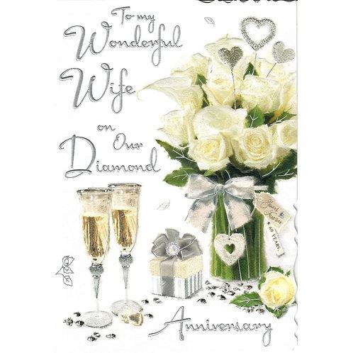WIFE Diamond Anniversary Card