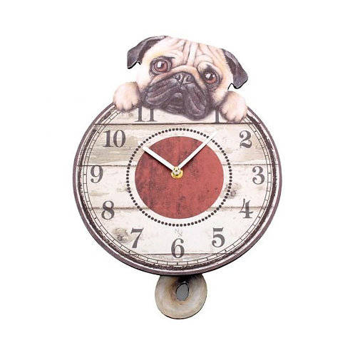 Puggin Tickin Clock