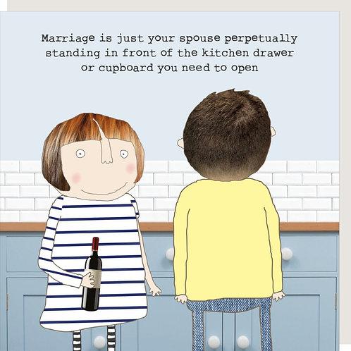 Marriage Kitchen Drawer Card