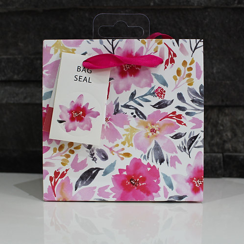 Small Watercolour Flowers Gift Bag