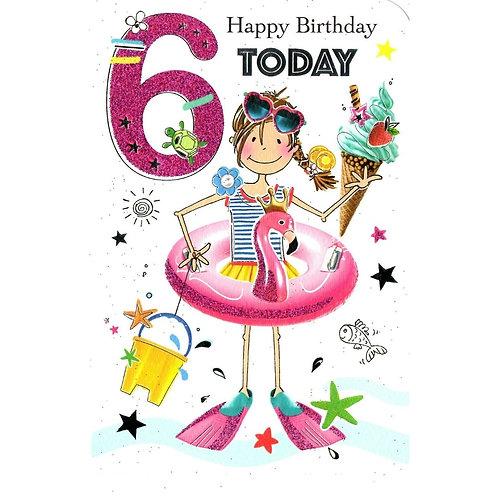 6th Birthday Card