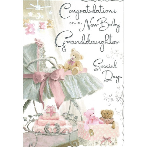 GRANDDAUGHTER New Baby Card