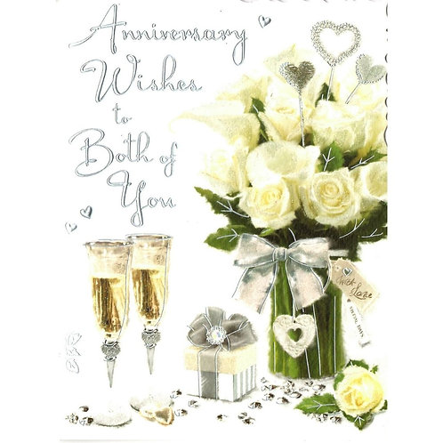 Champagne Both of You Anniversary Card Card