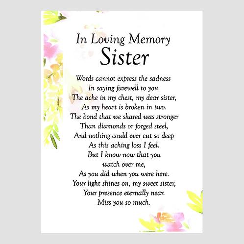 Sister Grave Card