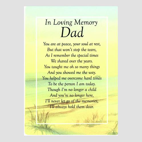 Dad Grave Card