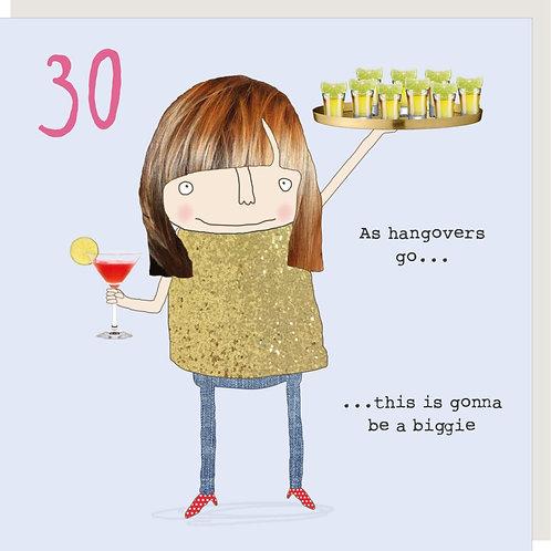 30th Birthday Card