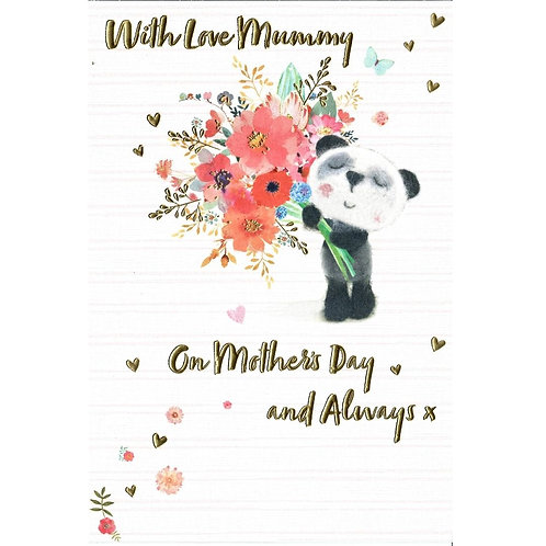 Panda Mother's Day Card