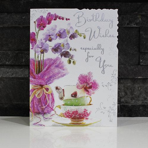 Teacups Birthday Card
