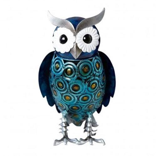 Hand Painted Metal Owl 20cm