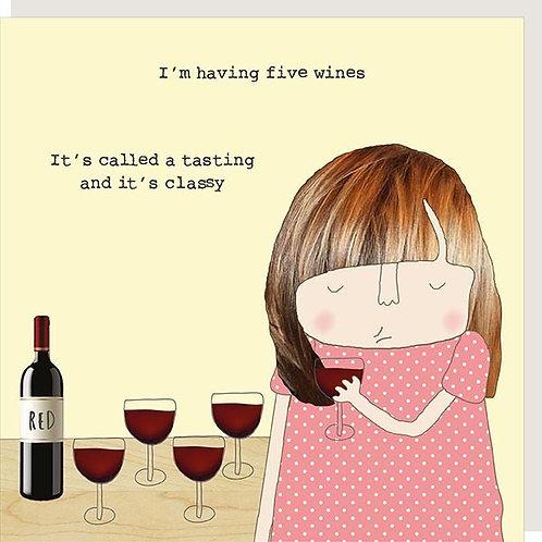 Classy Wine Card