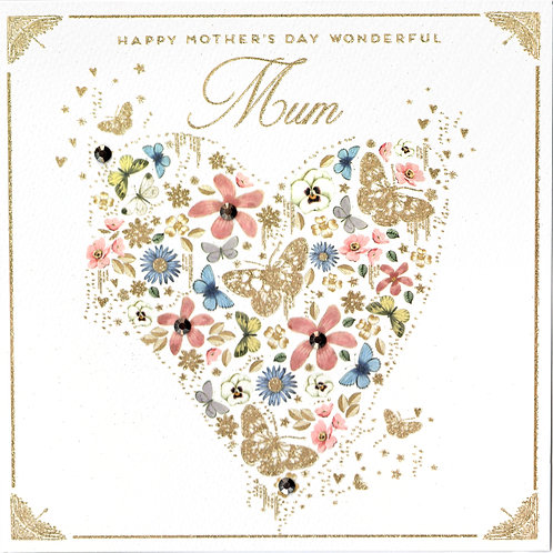Large Heart Mother's Day Card