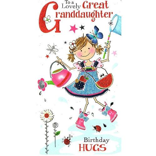 GREAT GRANDDAUGHTER Birthday Card