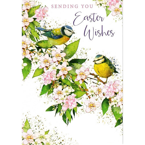 Blue Tits Pack of 5 Easter Cards